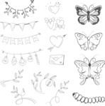 Vector Hand Drawn Elements Mega Bundle - Graphic 60