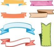 Vector Hand Drawn Elements Mega Bundle - Colored Hand Drawn Labels Vector Set