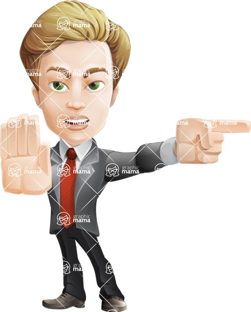male cartoon character, elegant blond man vector - Direct Attention2