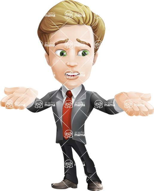 male cartoon character, elegant blond man vector - Lost