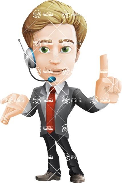 male cartoon character, elegant blond man vector - Support2