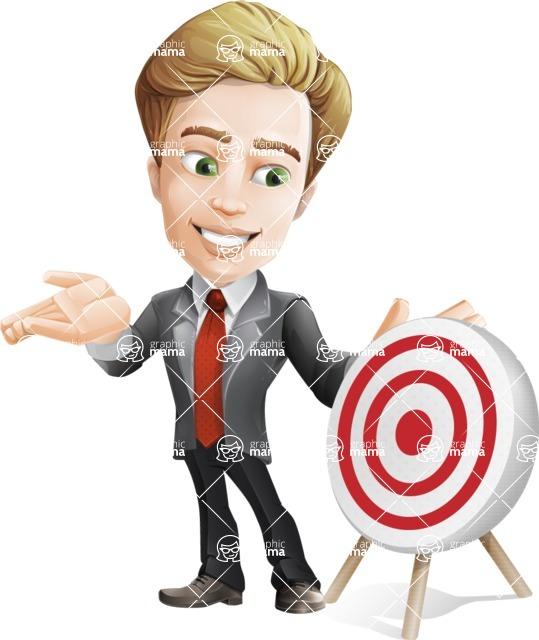 male cartoon character, elegant blond man vector - Target