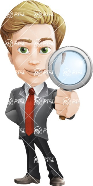 male cartoon character, elegant blond man vector - Search