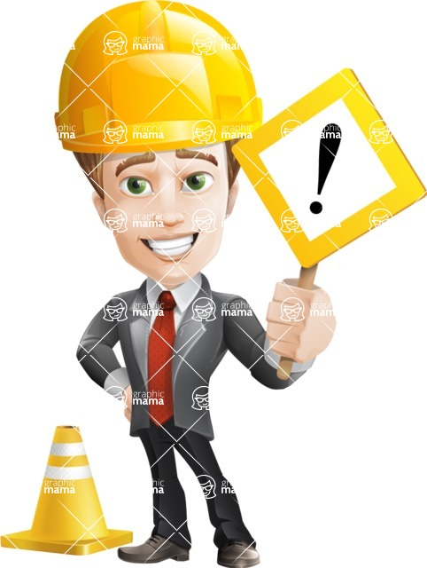 male cartoon character, elegant blond man vector - Under Construction1