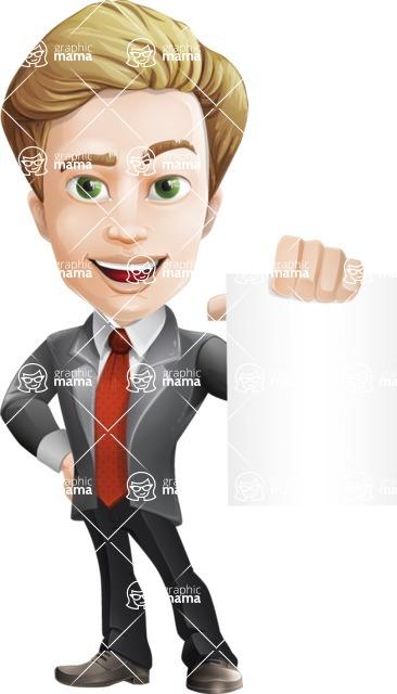 male cartoon character, elegant blond man vector - Sign4