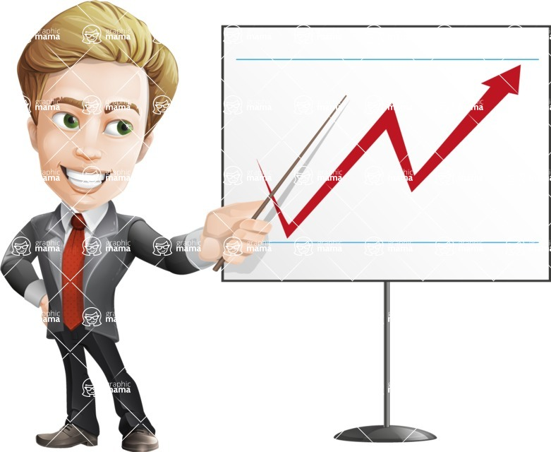 male cartoon character, elegant blond man vector - Presentation4