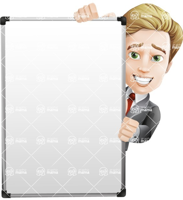 male cartoon character, elegant blond man vector - Presentation6