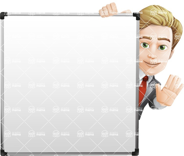 male cartoon character, elegant blond man vector - Presentation7