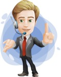 male cartoon character, elegant blond man vector - Shape9
