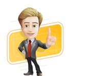 male cartoon character, elegant blond man vector - Shape10