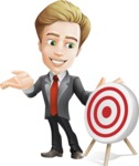 male cartoon character, elegant blond man vector - Target