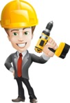 male cartoon character, elegant blond man vector - Under Construction2