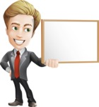 male cartoon character, elegant blond man vector - Presentation1