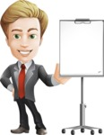 male cartoon character, elegant blond man vector - Presentation3