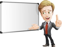 male cartoon character, elegant blond man vector - Presentation5