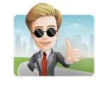 male cartoon character, elegant blond man vector - Shape1