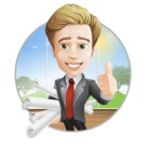 male cartoon character, elegant blond man vector - male cartoon character, elegant blond man vector - project engineering documentation