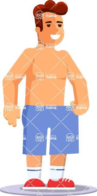 Health & Diet: Overweight People - Man Losing Weight