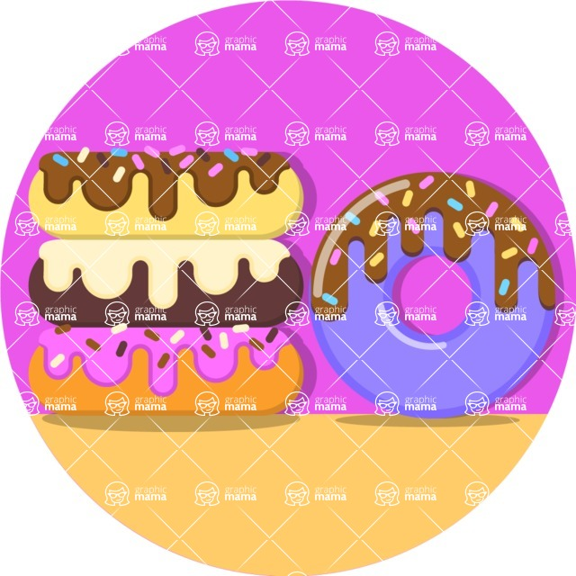 Health & Diet: Overweight People - Donuts