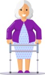 Health & Diet: Overweight People - Elderly woman