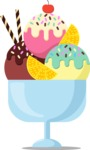 Gym and Diet Vectors - Mega Bundle - Ice Cream Sundae