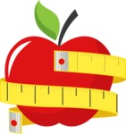 Gym and Diet Vectors - Mega Bundle - Apple Diet