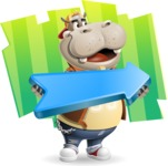 Hippo Cartoon Character - With Creative Background