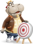 Hippo Cartoon Character - with Target
