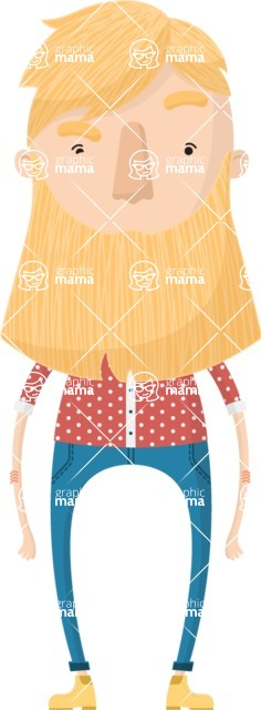 Hipster Cartoon Graphic Maker - Blonde lumberjack hipster