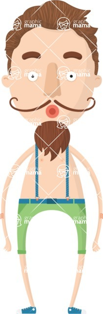 Hipster Cartoon Graphic Maker - Salvador Dali hipster