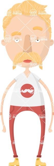Hipster Cartoon Graphic Maker - Blonde hipster guy