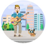 Hipster Vector Graphics - Street musician