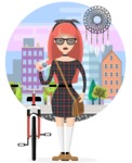 Hipster Style - Exploring the city with bike