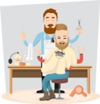 Hipster Vector Graphics - Happy new haircut
