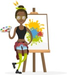 Hipster Vector Graphics - Painting artwork