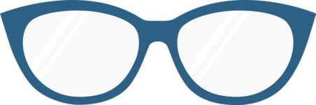 Hipster Vector Graphics - Glasses feminine frame