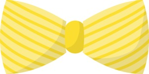 Hipster Vector Graphics - Bow tie with stripes