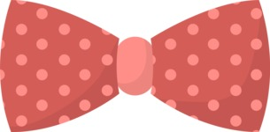Hipster Vector Graphics - Bow tie with dots