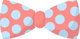 Hipster Vector Graphics - Bow tie with big dots
