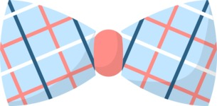 Hipster Style - Bow tie with lines