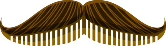 Hipster Vector Graphics - Moustache comb