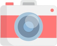 Hipster Vector Graphics - Round camera