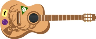 Hipster Vector Graphics - Acoustic guitar