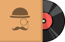 Hipster Vector Graphics - Gramophone record