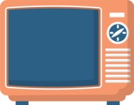 Hipster Vector Graphics - Old school TV