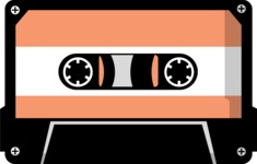 Hipster Vector Graphics - Compact cassette
