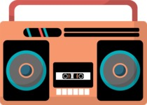 Hipster Vector Graphics - Cassette player