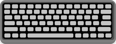 Hipster Vector Graphics - Computer keyboard top view