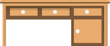 Hipster Vector Graphics - Desk with drawers