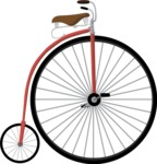 Hipster Vector Graphics - Old fashioned bicycle